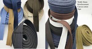 35mm 40MM 45mm Reinforced Bag Strap100% Cotton Canvas Belt Webbing Bag Strap