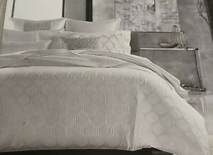 HOTEL COLLECTION OLYMPIA Duvet Cover FULL-QUEEN WHITE $335