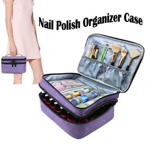 Portable Nail Polish Storage Bag Organizer Case 42 Bottles Holder Essential Oil