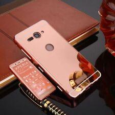 Miroir Pare-chocs en aluminium 2 pièces rose pour Sony Xperia XZ2 Compact
