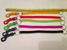 SPIRAL KEY CHAIN,EXTRA LONG RETRACTABLE SAFETY CUTTER, BOX OPENER LANYARD NEW