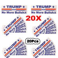 20Pcs Donald Trump 2020 Keep America Great No More Bullshit  Car Bumper Stickers