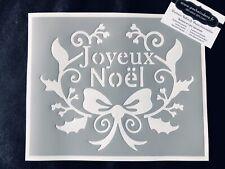 Pochoir Adhésif Réutilisable 25 x 20 cm Couronne Joyeux Noël