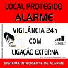 Placa de aviso de alarme (Vermelho)