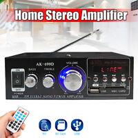 320W 2Channel Stereo Home Car Audio Amplifier HiFi Amp MP3/USB/SD/FM Radio