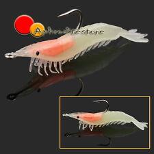 AMO Artificiale per Pescare Gambero 60mm Lucido Silicone Tenero all'Aperto ap7e