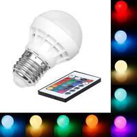 3W E27 RGB LED Glühbirne Mit Ir Fernbedienung Farbveränderung Stage Lampe