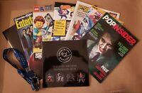 SDCC 2019 Magazines, Comic, Guidebook, Schedule + FCBD Lanyard