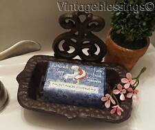 French Chateau Victorian Cast Iron Soap Dish with Our Fresh Buttermilk Soap