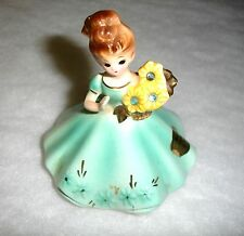 Mid-Century Josef Originals March Figurine-Aquamarine-Black Eye-Japan-Rhinestone