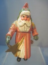 HOUSE OF HATTEN SANTA HOLDING A STAR AND BELLS 1988 ORNAMENTS