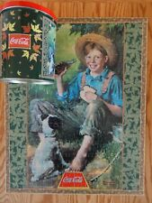 1998 AMG Coca-Cola Coke Norman Rockwell Boy & Dog 204 Piece Jigsaw Puzzle in Tin