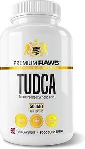 PREMIUM RAWS TUDCA 180 Caps 250mg - Liver Support (Tauroursodeoxycholic Acid)
