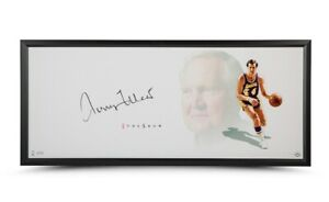 """Jerry West Signed Autographed 20X46 Framed Photo The Show """"The Logo"""" Lakers UDA"""