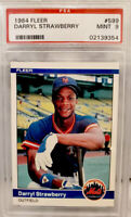 1984 Fleer Darryl Strawberry ROOKIE RC #599 PSA 9 MINT