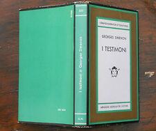 GEORGES SIMENON - I TESTIMONI - MONDADORI MEDUSA 1967 PRIMA EDIZIONE