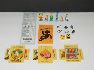 Complete Set SIMPSONS CLUE 2nd Ed. Game Pieces Figures Cards Weapons Checklists+
