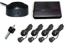 Universal Car Reverse Backup Radar System 4 Parking Sensor Kit Black W Sound