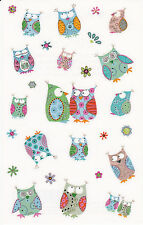 Mrs. Grossman's Turnowsky Stickers - Wise Little Owls - Bright Colors - 2 Strips