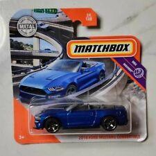Matchbox 1-75 1:64 2020 2018 Ford Mustang Convertible GT500 Blue Mainline MINT