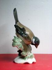 ROSENTHAL HANDGEMALT PORCELAIN SPARROW BIRD FIGURINE ESTATE FIND