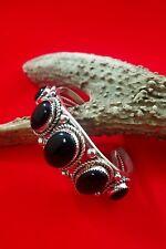 Navajo Black Onyx, Sterling Silver Cuff Bracelet