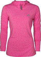 More Mile Womens Training Hoody Pink Soft Warm Fleece Lined Sport Running Hoodie