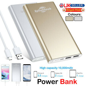 10000 mAh Slim Power Bank USB Battery Charger Compatible With all Tablet Phones