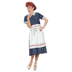 I Love Lucy Costume Adult 50s Housewife Halloween Fancy Dress