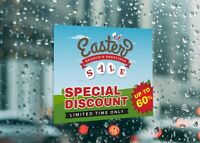 Easter Special Discounts Limited Time Large Self Adhesive Window Shop Sign 4282