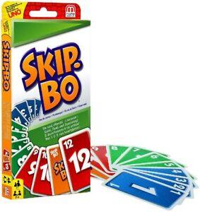 Mattel Games 52370 Skip-Bo Kartenspiel Familie Kinderspiel Spiel für 2-6 Spieler