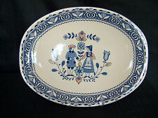 "Johnson Bros. Old Granite Hearts & Flowers 12"" Oval Serving Platter"