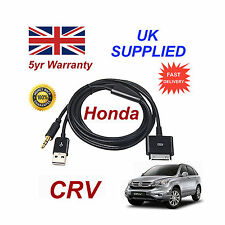 Honda CRV Audio system iPhone 3GS 4 4S iPod USB & 3.5mm Aux Cable black