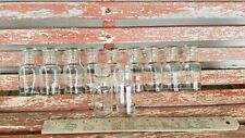 Vintage Lot of 11 Empty Clear Glass Spice Jars