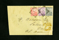 South Africa Stamps Rare 1893 Cover with 3 Stamps