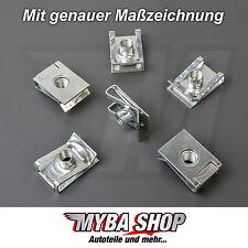 10x metal halterunung paréntesis Klemm madre VW Golf AUDI m6 x 23.4 x 16 #neu