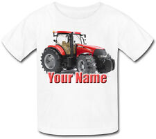 RED TRACTOR PERSONALISED KIDS T-SHIRT - GREAT GIFT FOR ANY CHILD & NAMED TOO