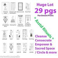 29 Pages RITUALS & SPELLS PAGAN Wicca Book of Shadows Parchment Prints Lot