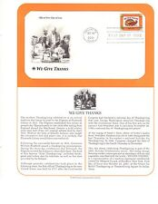 US Stamps PCS Panel FDC #3546 Horn of Plenty Thanksgiving Commemorative 2001