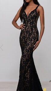 Jovani Black Lace Prom Dress Size 4