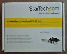 StarTech.com 4-Port PCI Express SuperSpeed USB 3.0 Controller Card - Open Box!