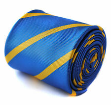 Frederick Thomas royal blue and yellow gold stripe tie RRP £19.99 FT824