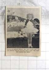 1969 Six-year-old Catherine O'reilly, Miss Troon Cricket Club Marazion Fairy