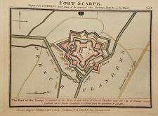 Antique Map FORT de SCARPE Douai Flanders France Luffman Select Plans 1800