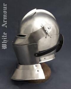 Italian Armet helmet SCA LARP fantasy helmet knight armor helm medieval armor SC