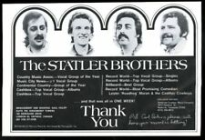 1973 The Statler Brothers photo music trade concert booking ad