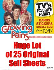 Lot of 25 1988 Topps Growing Pains Trading Cards Original Promo Sell Sheets