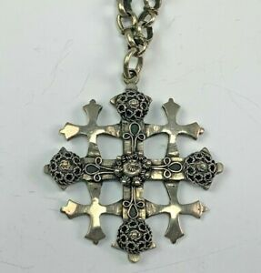 Jerusalem 800 Purity Silver Pendant Necklace