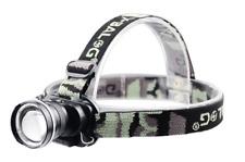 Linterna Frontal Recargable de cabeza luz LED 8000LM T6 2X ZOOM Impermeable 48h