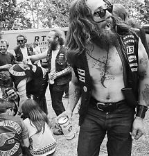Hells Angels Motorcycle Gang Oakland California Gathering 1968 8.5x11 Photo